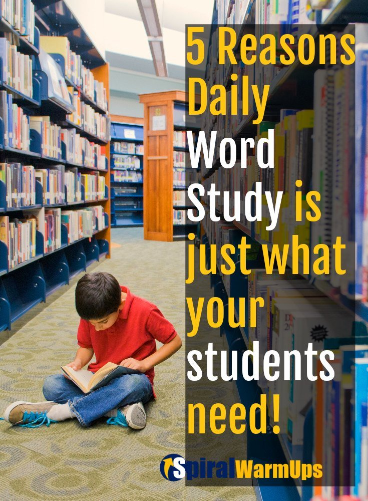 Daily Word Study is a key to Fluency and Comprehension.