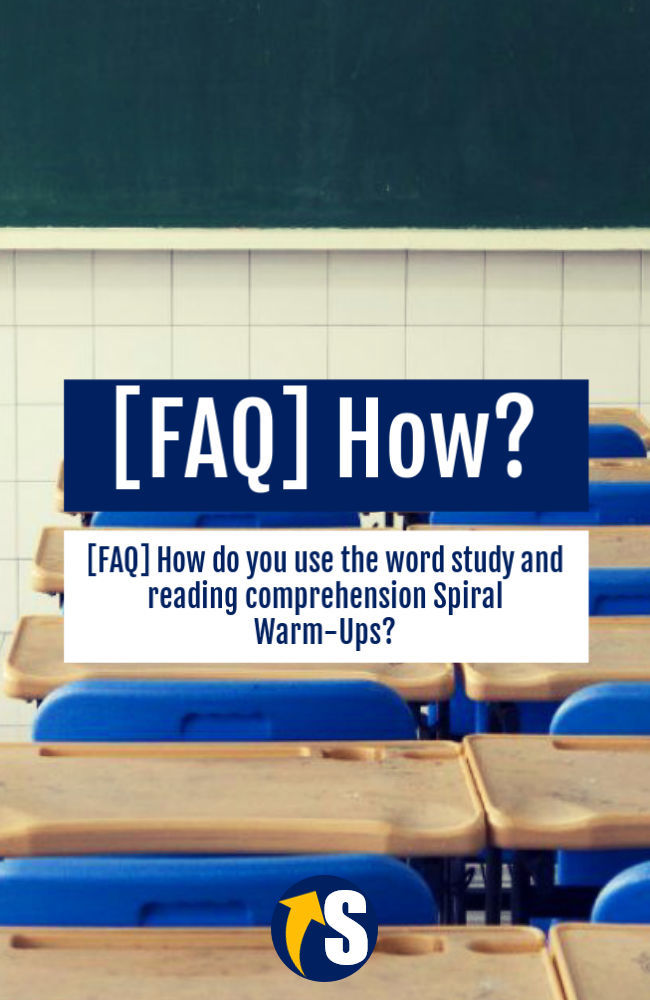 How to use word study and reading warm-ups