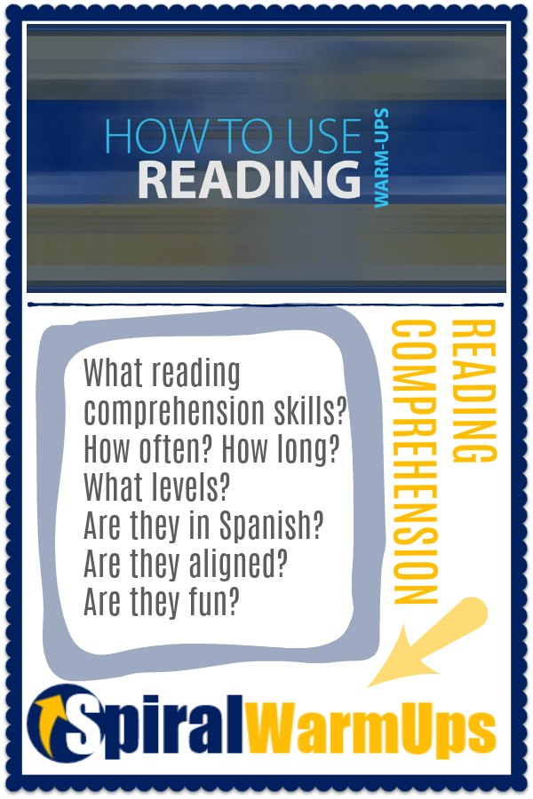 How to use Reading Comprehension Spiral Warm-Ups